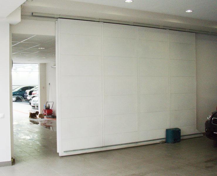 Откатные ворота гаража